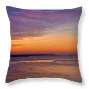 Sunrise Over The Mekong. Throw Pillow