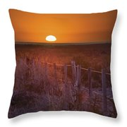 Sunrise Over The Pampa Of Argentina San Throw Pillow