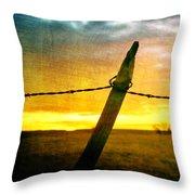 Sunrise Over The Prairie Throw Pillow