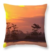 Sunrise Over The River Throw Pillow