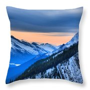 Sunrise Over The Rockies Throw Pillow