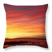 Sunrise Over Union Reservoir In Longmont Colorado Boulder County Throw Pillow