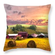 Sunrise Pastures Throw Pillow