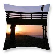 Sunrise Pier Ventura Throw Pillow by Henrik Lehnerer