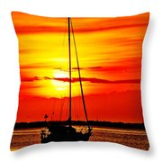 Sunrise Sailing Throw Pillow