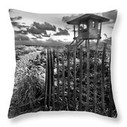 Sunrise Sentinel In Black And White Throw Pillow