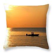 Sunrise Sport Fishing Throw Pillow