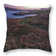 Sunrise View Of Clogher Beach Throw Pillow