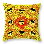 Suns Party Throw Pillow