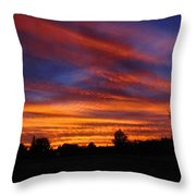 Sunset 2   09 22 12 Throw Pillow