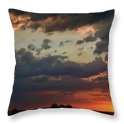 Sunset After The Thunderstorm Throw Pillow