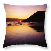 Sunset And Sea Throw Pillow