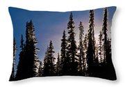 Sunset And Stars Throw Pillow