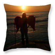 Sunset Angel Throw Pillow