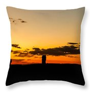 Sunset Arches Throw Pillow