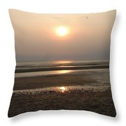 Sunset At Campground Beach Eastham Ma Cape Cod Throw Pillow