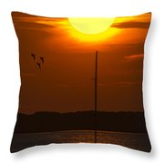 Sunset At Cape Cod Throw Pillow