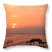 Sunset At Cigu Bay Throw Pillow