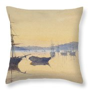 Sunset At Constantinople Throw Pillow by M Baillie Hamilton