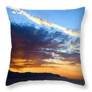 Sunset At Costa Del Sol Throw Pillow