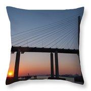 Sunset At Dartford Bridge Throw Pillow