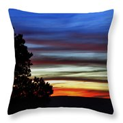 Sunset At Desert View Along The Grand Canyon Throw Pillow