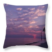 Sunset At Fountianbleu State Park Throw Pillow