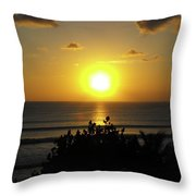 Sunset At Kuta Beach Throw Pillow