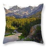 Sunset At Mack Lake Throw Pillow