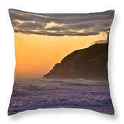 Sunset At North Head II Throw Pillow