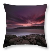 Sunset At Otter Point Throw Pillow