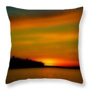 Sunset At Redondo Throw Pillow