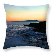 Sunset At Schoodic Throw Pillow