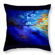 Sunset At Sea By Ted Jec. Throw Pillow