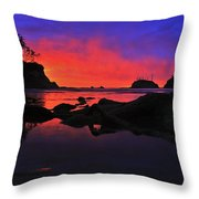 Sunset At Sunset Bay Throw Pillow