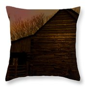 Sunset At The Barn Throw Pillow