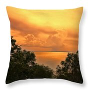 Sunset At The Esplanade Throw Pillow