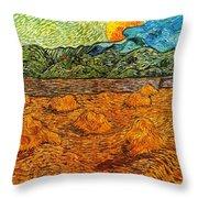 Sunset At The Hills Throw Pillow