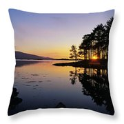 Sunset At The Lake, Kenmare, Ring Of Throw Pillow