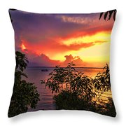 Sunset At The Top-end V2 Throw Pillow