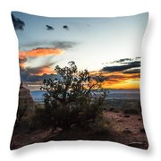 Sunset At Turrent Arch Throw Pillow