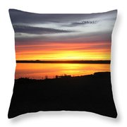 Sunset Bar Harbor Maine Throw Pillow