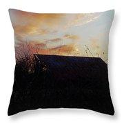 Sunset Barn1 Throw Pillow