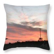 Sunset Battleship Throw Pillow
