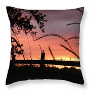 Sunset Bird Throw Pillow