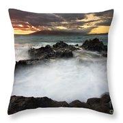 Sunset Boil Throw Pillow