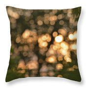 Sunset Bokeh  Throw Pillow