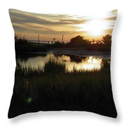 Sunset Cape Charles Virginia Throw Pillow