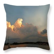 Sunset Clouds Over The Bay Throw Pillow