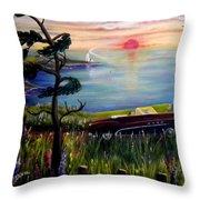 Sunset Cruisin' Throw Pillow